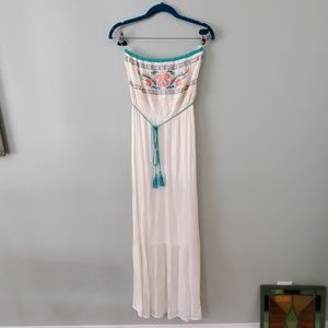 flyiong tomato boho maxi dress strapless S